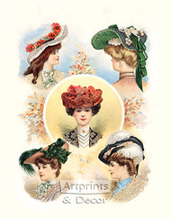 Paris Hats For The Early Autumn by The Delineator Magazine - Art Print