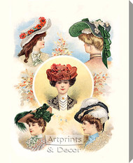 Paris Hats For The Early Autumn by The Delineator Magazine - Stretched Canvas Art Print
