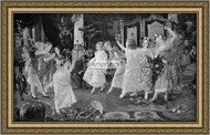 Young Girls At Party - Framed Art Print