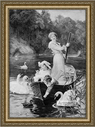 The Home Of The Swans - Framed Art Print