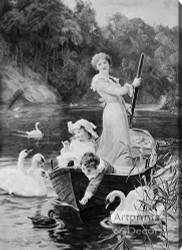 The Home Of The Swans by Frederick Morgan - Stretched Canvas Art Print