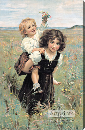 Happy Times by Frederick Morgan - Stretched Canvas Art Print