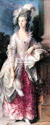 The Honorable Mrs Graham by Thomas Gainsborough - Art Print