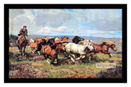 The Stampede - Framed Art Print