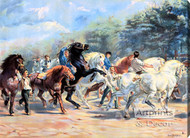 Horse Fair by Rosa Bonheur - Stretched Canvas Art Print
