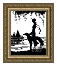 Gazing - Framed Art Print