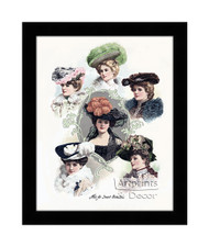 Hats For Smart Occasions - Framed Art Print