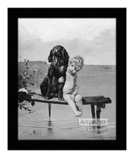 Pals by Bruno Piglhein - Framed Art Print