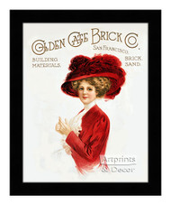 Golden Gate Brick Company - Vintage Ad - Framed Art Print
