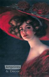Scarlett by Hamilton King - Art Print