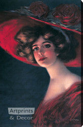 Scarlett by Hamilton King - Stretched Canvas Art Print