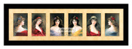 Six Portraits - Framed Art Print