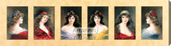 Six Portraits by Angelo Asti - Stretched Canvas Art Print