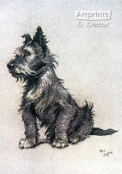 Scotch Terrier by Cecil Aldin - Art Print