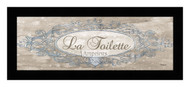 *La Toilette Sign - Framed Art Print