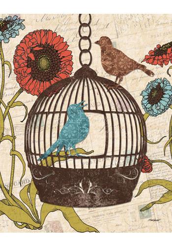 Bird & Blooms III by Todd Williams - Art Print
