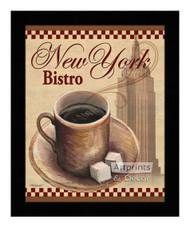 *New York Bistro - Framed Art Print