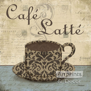 Cafe Latte by Todd Williams - Framed Art Print