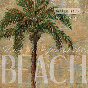 Beach Palm by Todd Williams - Framed Art Print