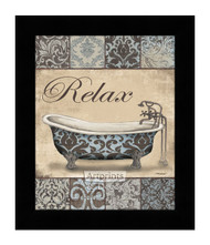 *Relax Bath - Framed Art Print