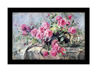 La France Roses by Frans Mortelmans - Framed Art Print