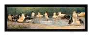 Ducklings Take a Dip -  Framed Art Print