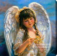 Little Angel by Sandra Kuck - Stretched Canvas Art Print