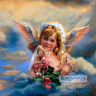 Little Angel Guardian by Sandra Kuck - Art Print