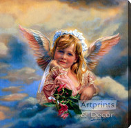 Little Angel Guardian by Sandra Kuck - Stretched Canvas Art Print
