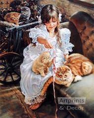 Playful Kittens by Sandra Kuck - Art Print