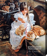 Playful Kittens by Sandra Kuck - Stretched Canvas Art Print
