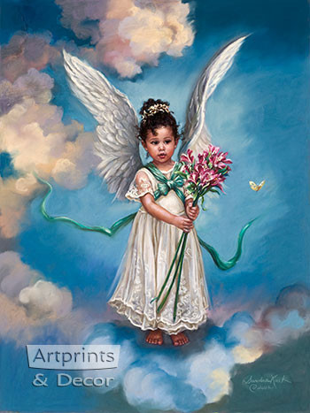 April Day Lily by Sandra Kuck - Framed Art Print