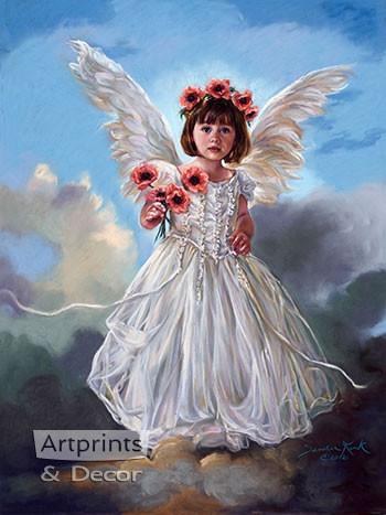 August Poppy by Sandra Kuck - Framed Art Print