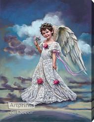 January Carnation by Sandra Kuck - Stretched Canvas Art Print