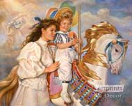 Memories - Carousel Horse by Sandra Kuck - Art Print