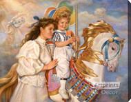 Memories - Carousel Horse by Sandra Kuck - Stretched Canvas Art Print