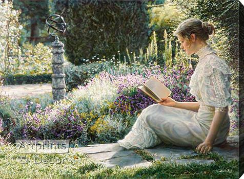 Eleane Garden by Sandra Kuck - Stretched Canvas Art Print