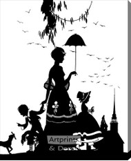 Sunday Morning - Silhouette – Stretched Canvas Art Print
