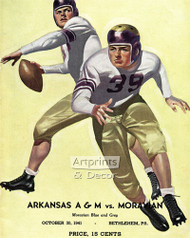Arkansas A&M vs Moravian - Football Game Poster - Art Print