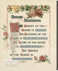 House Blessing - Stretched Canvas Art Print