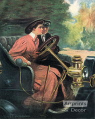 Learning to Drive by Clarence Underwood - Art Print