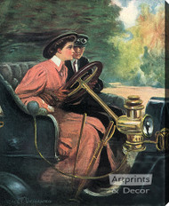 Learning to Drive by Clarence Underwood - Stretched Canvas Art Print
