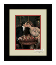 Romantic Checkmate - Framed Art Print