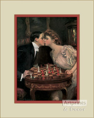 Romantic Checkmate by Clarence Underwood   - Art Print