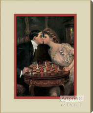 Romantic Checkmate by Clarence Underwood   - Stretched Canvas Art Print
