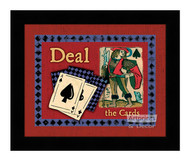 Deal The Cards - Framed Art Print