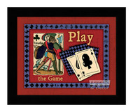 Play The Game - Framed Art Print