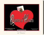 Queen o' Hearts - Stretched Canvas Art Print