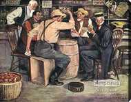 The Card Game by Clarence Underwood - Stretched Canvas Art Print
