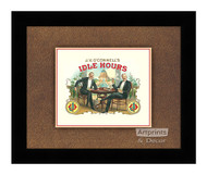 J.V. O'Connell's Idle Hours - Framed Art Print